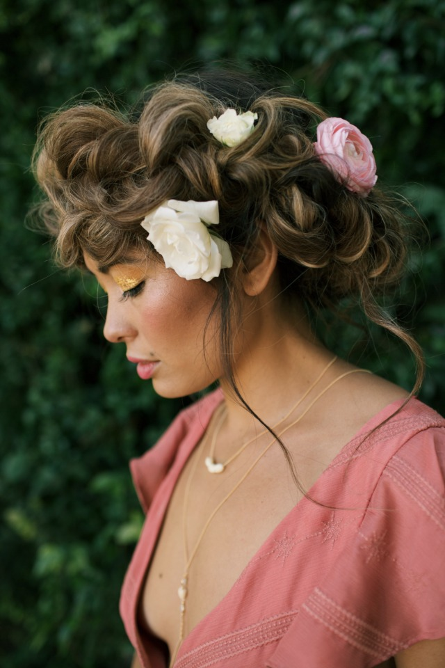 romantic boho braid wedding hair