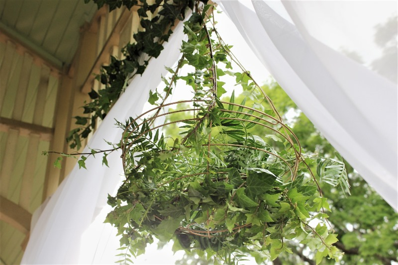 Fresh greenery chandelier by http://www.brisbaneweddingdecorators.com.au