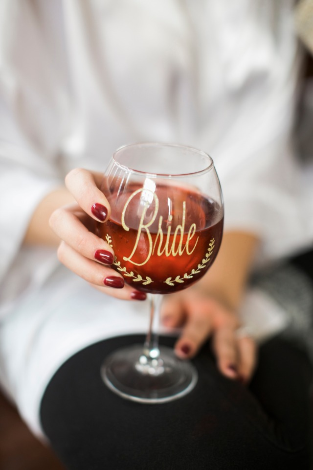 Cute bride glass