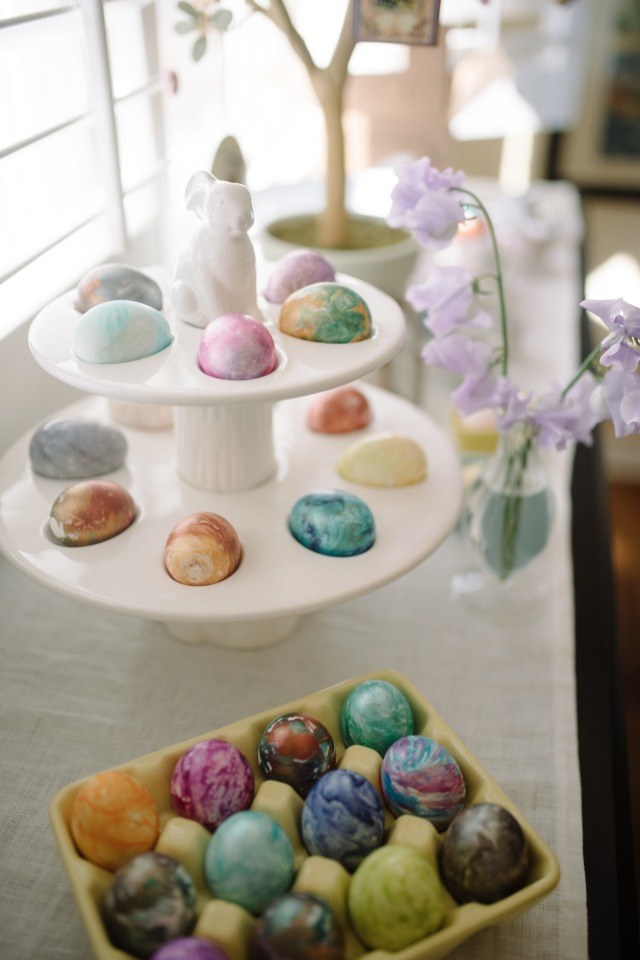Water color easter eggs