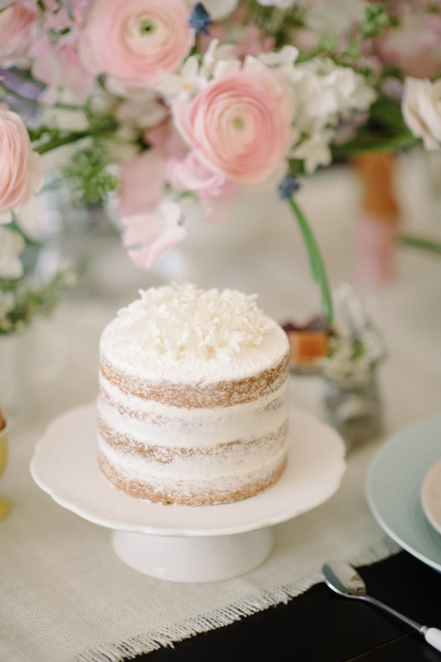 Naked coconut cake