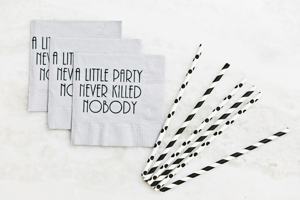 a little party never hurt nobody napkins