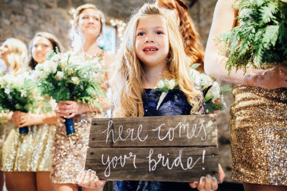 here comes your bride wedding sign