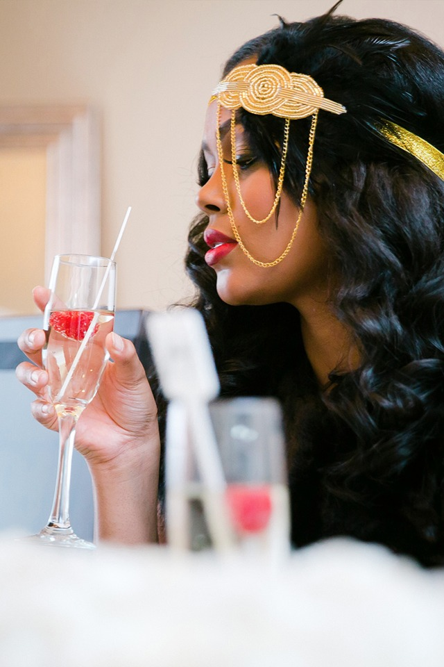 glam bridal style for your bridal shower
