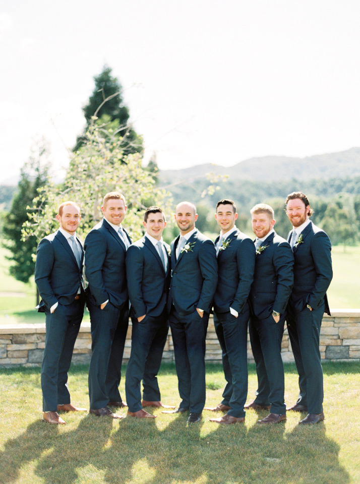 dark navy groomsmen attire