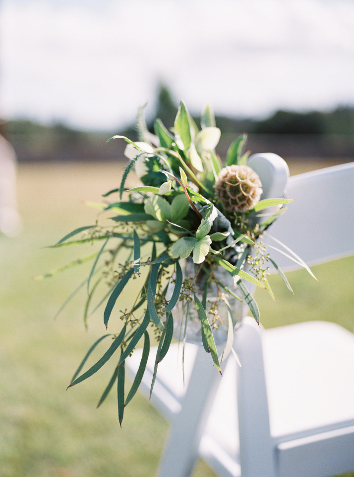 greenery wedding ceremony decor