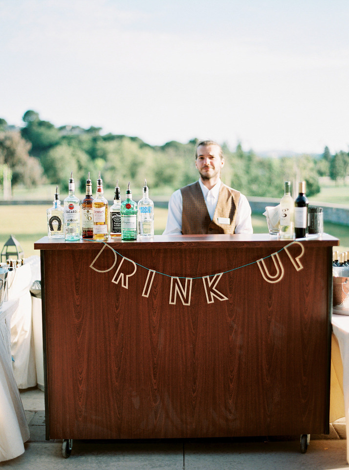 drink up wedding bar banner