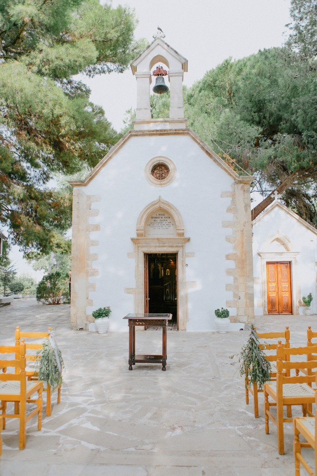 cute greek chapel wedding ceremony