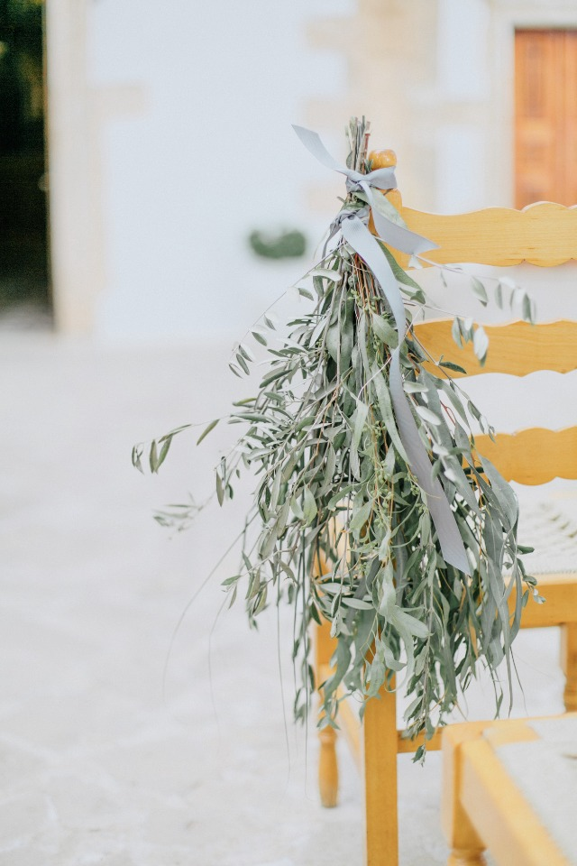 dried herb wedding aisle decor