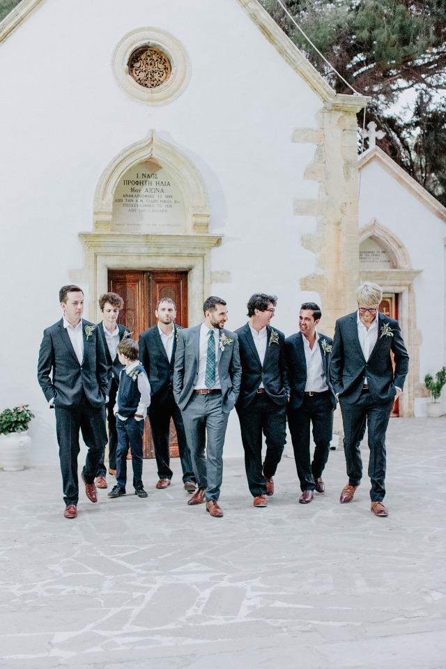 groom and his well dress groomsmen