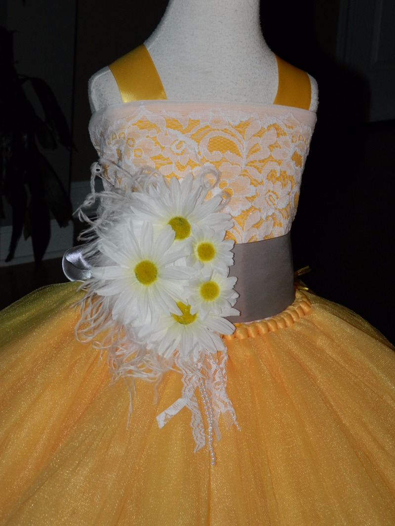 Our Golden daisy flower girl dress will steal the show...