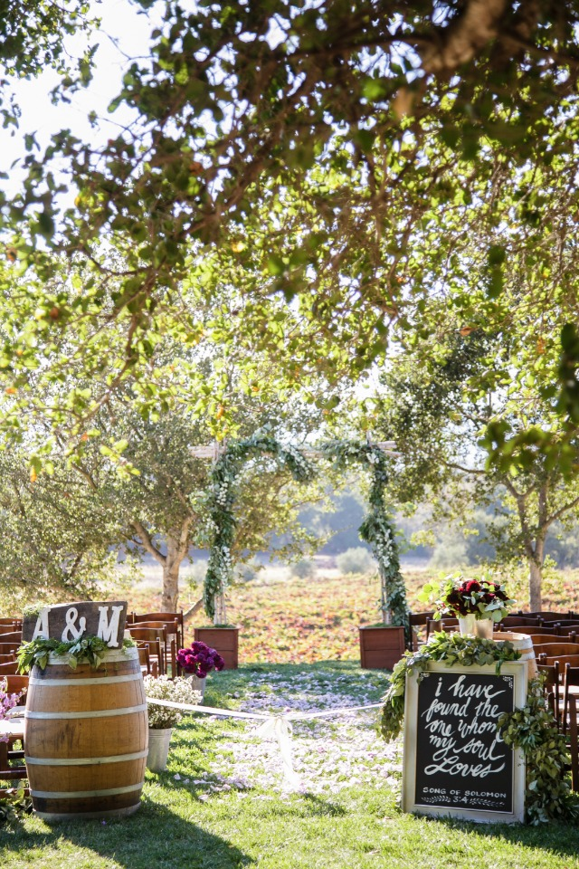 Gorgeous outdoor ceremony at a winery