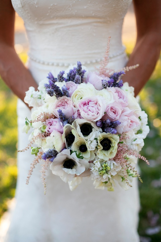 Purple, pink and creme bouquet