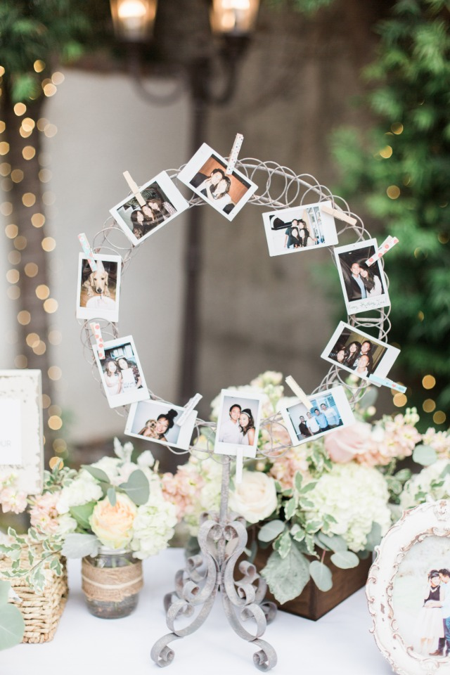 Cute reception photo display