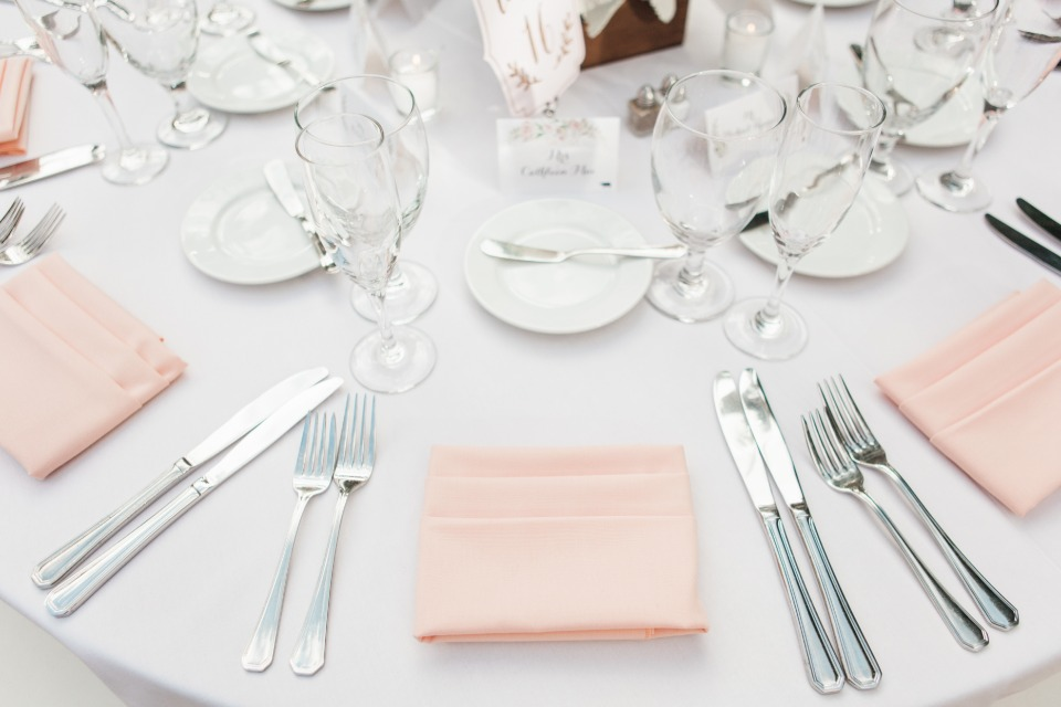 Pretty blush napkins