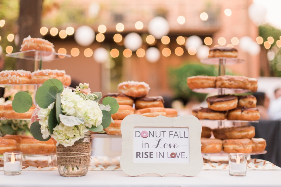 Cute donut table sign