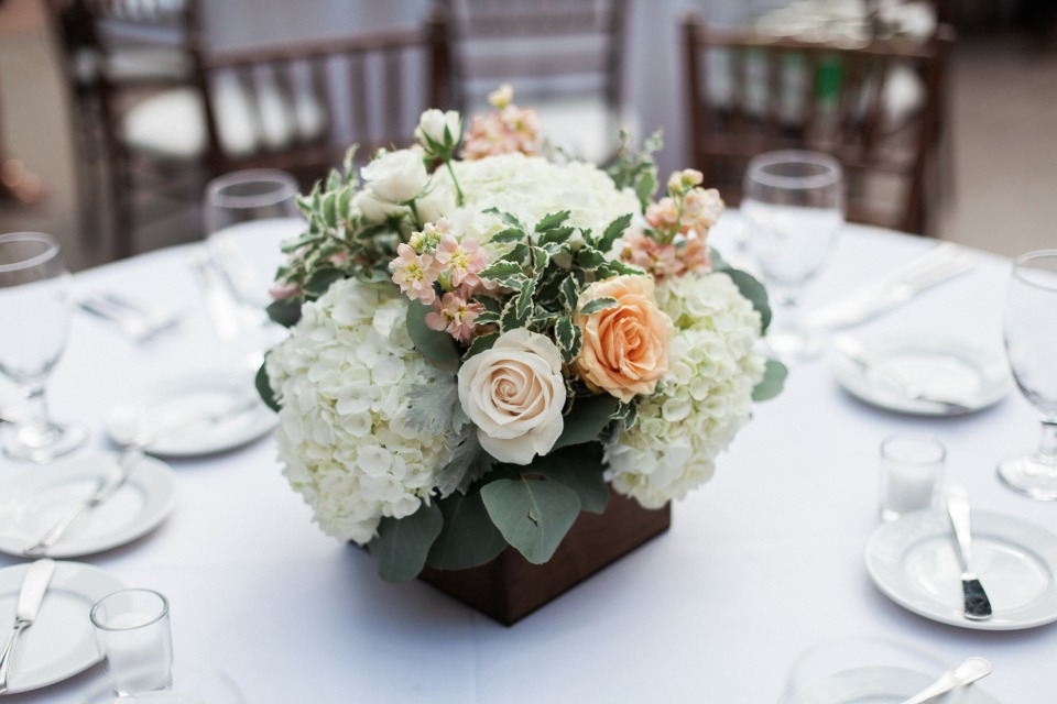 Box floral centerpiece