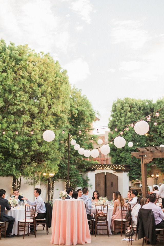 Hang lanterns at your reception