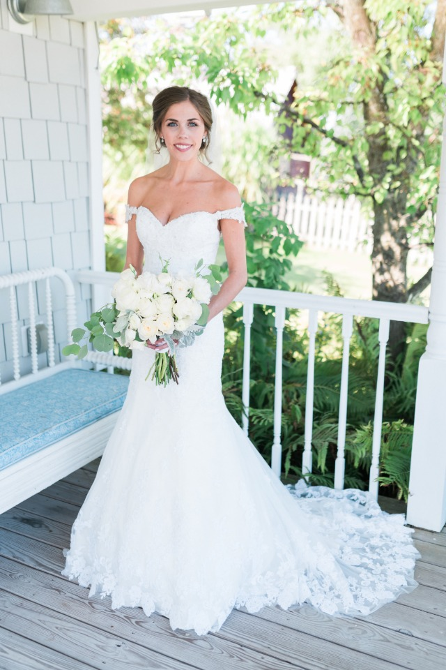 Jenna in White wedding dress