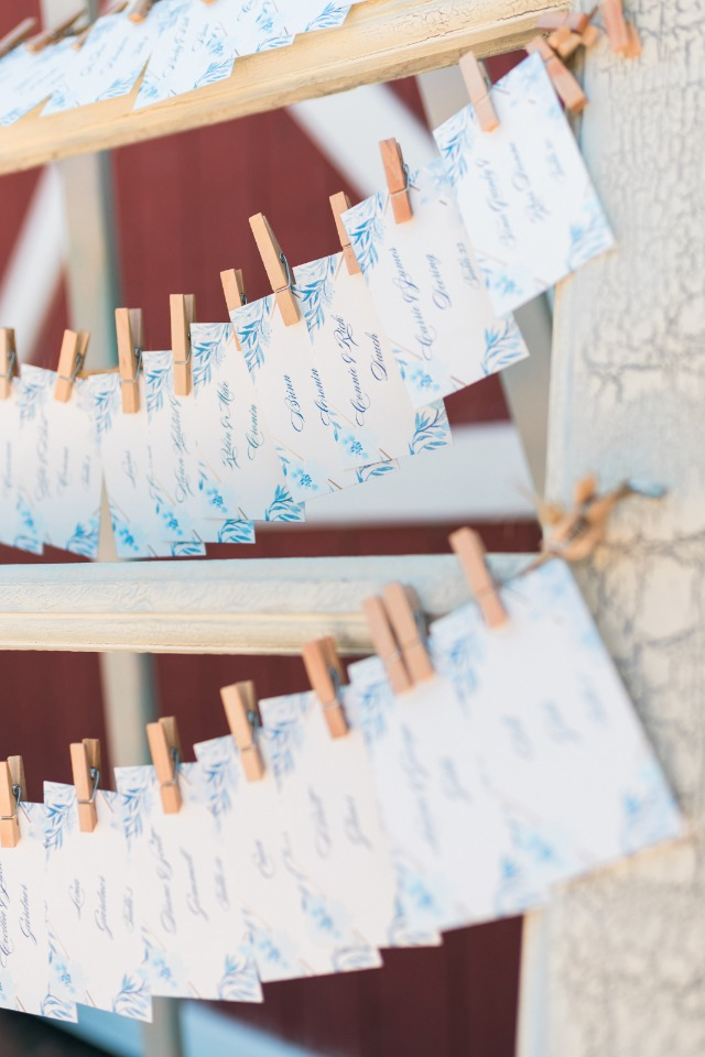 matching escort cards