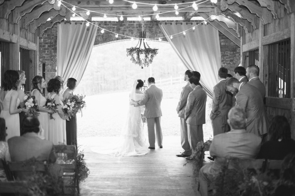 Indoor fall ceremony