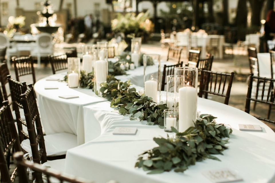 s shaped wedding table