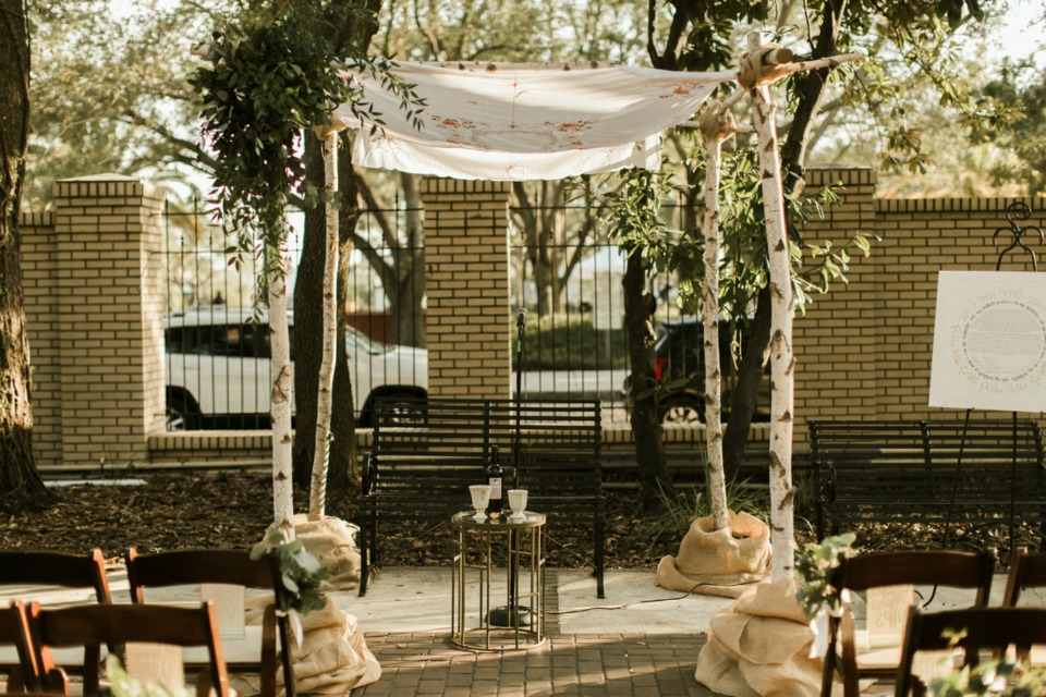romantic wedding Chuppah