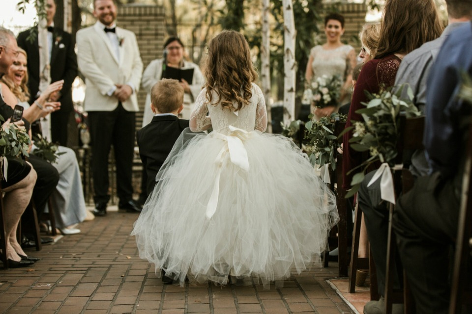 puffy little flower girl dress