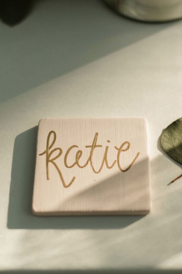 hand painted tile place cards