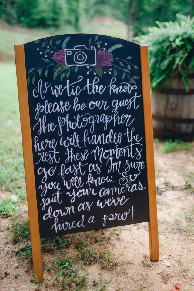 cute wedding sign for instagram