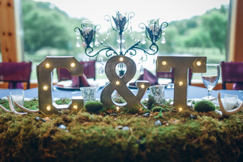 light up wedding marquee