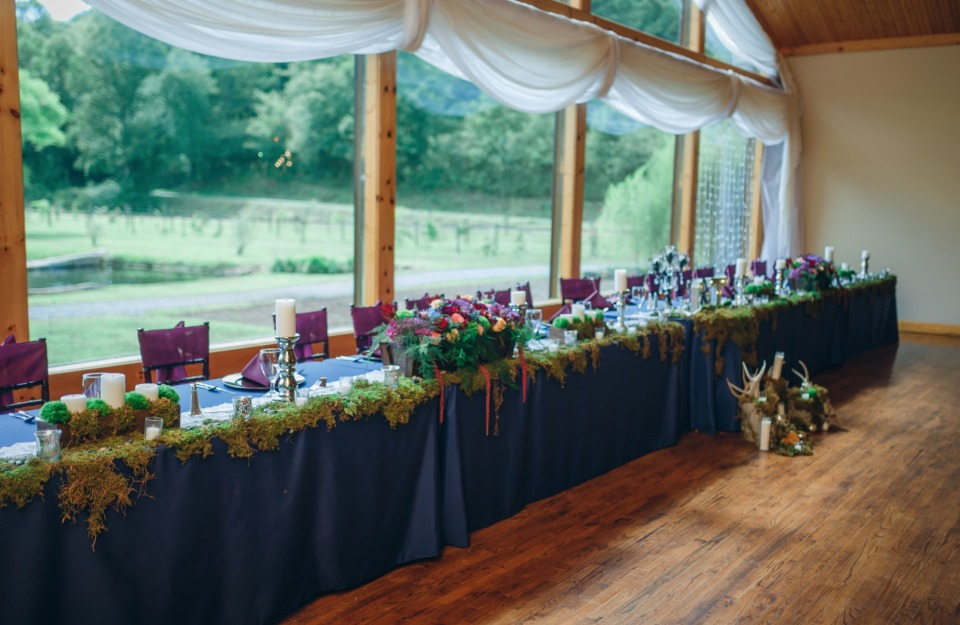 wedding party head table