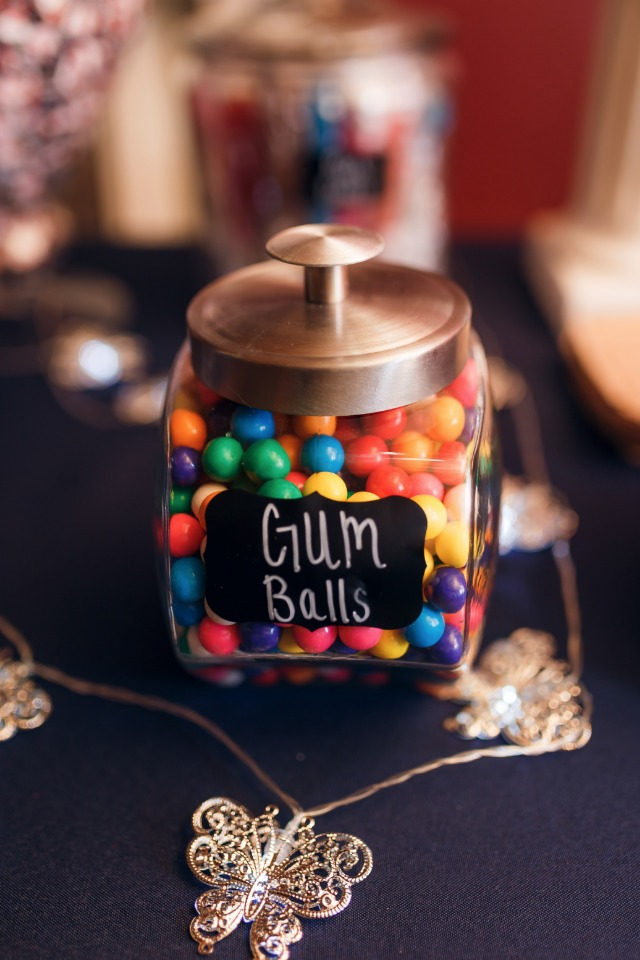 gum balls from the candy bar