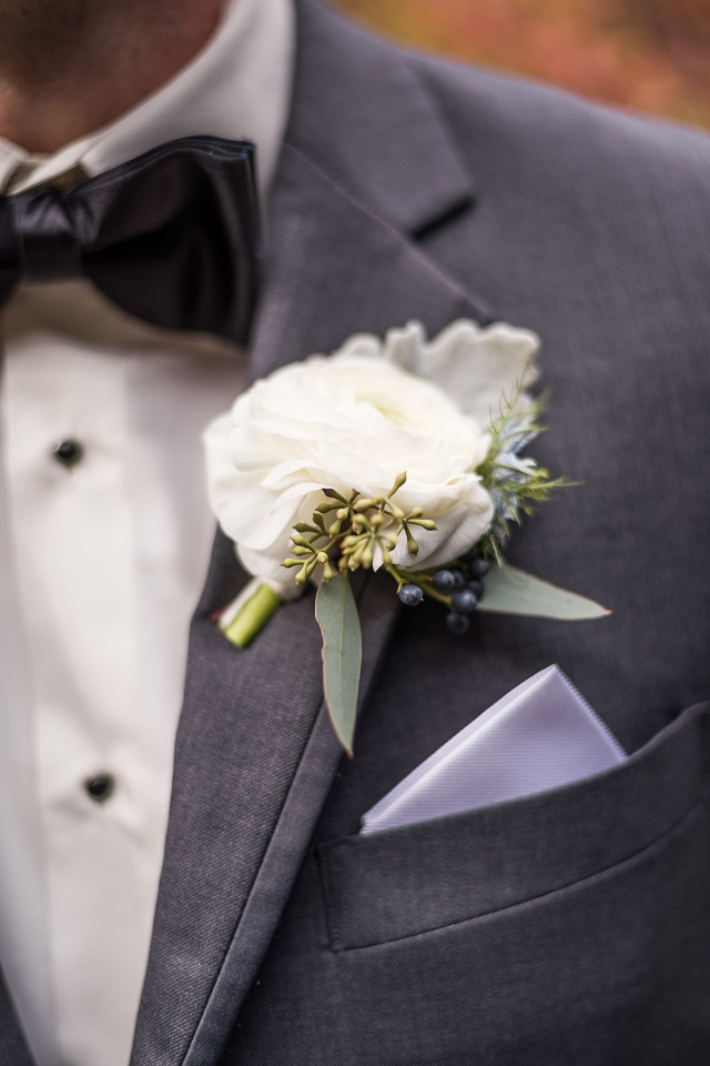 simple and sweet white boutonniere