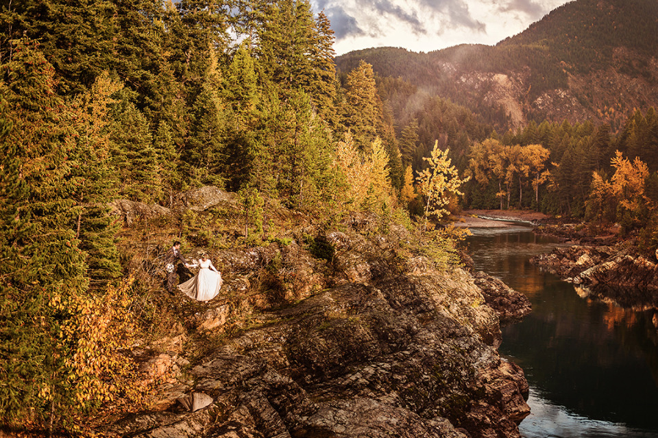 breathtaking national park wedding