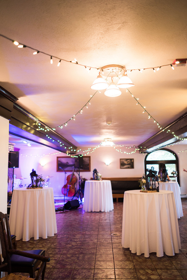 intimate indoor wedding reception