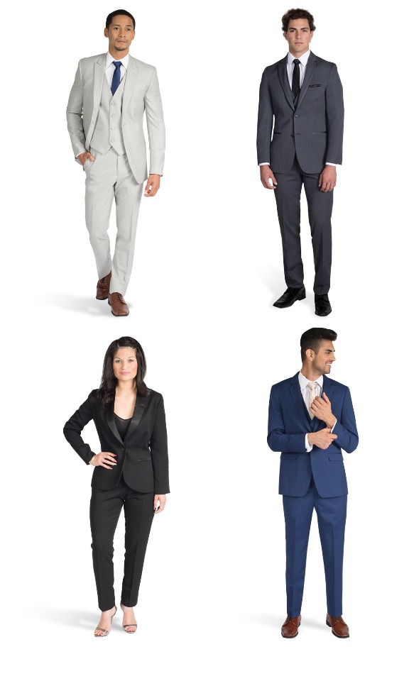Stylish suite and tuxedo rentals for men and women from Stitch & Tie