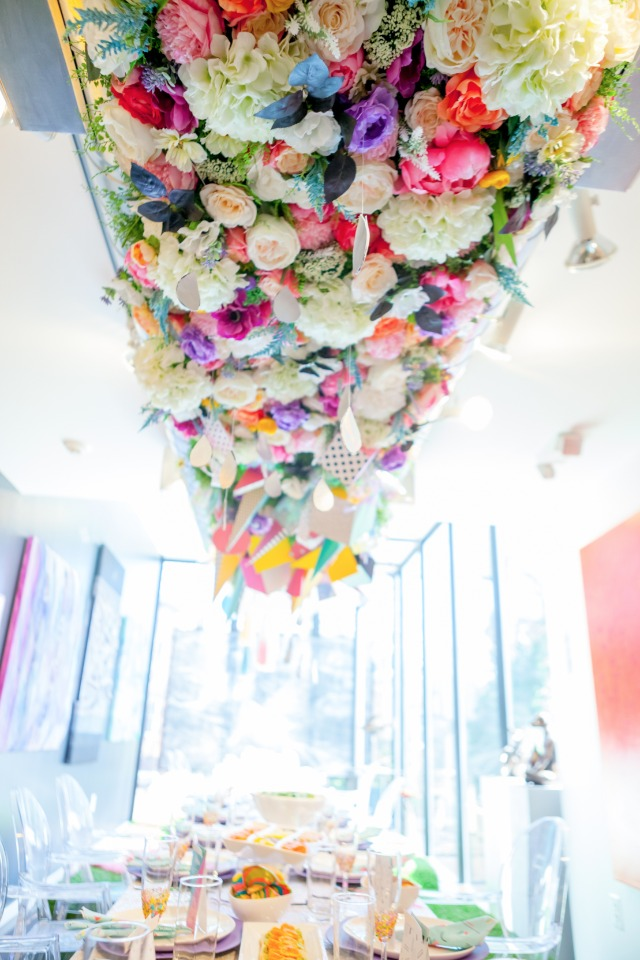 Pretty floral ceiling