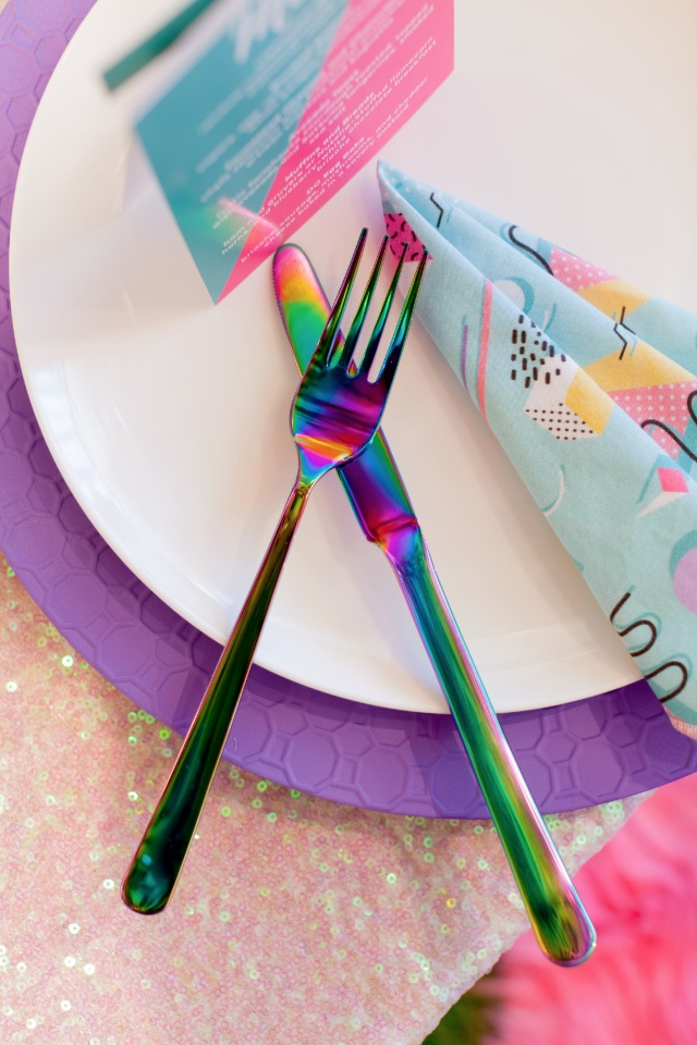 Cute iridescent flatware
