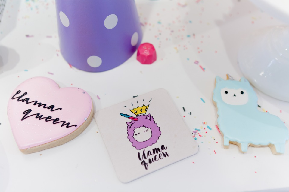 LLAMA QUEEN themed bridal shower