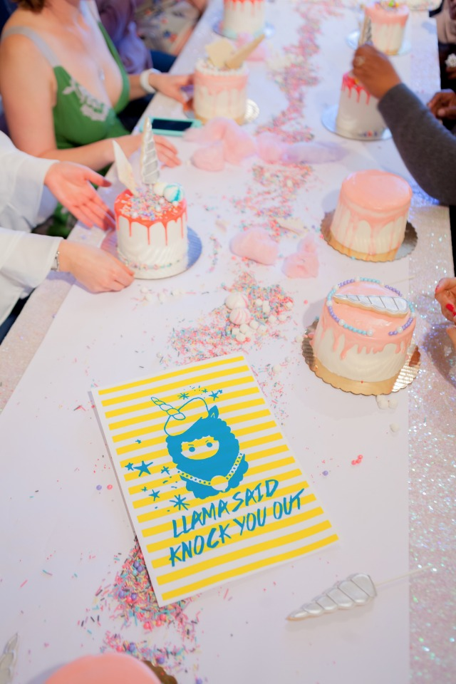llama + unicorn themed bridal shower ideas
