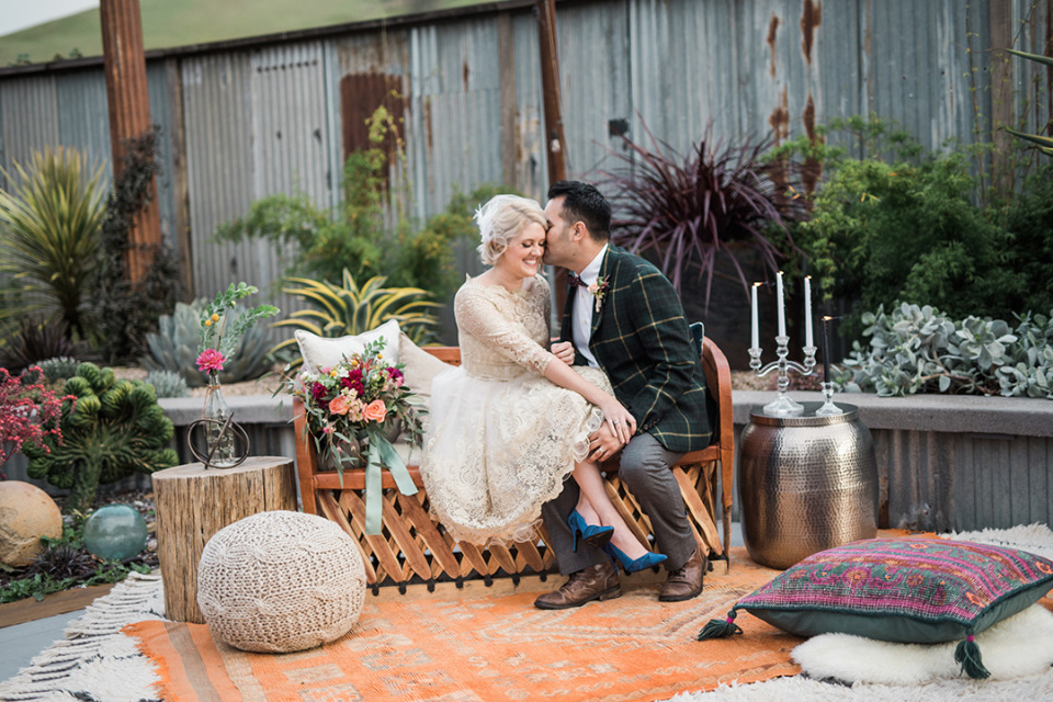 boho wedding seating rentals