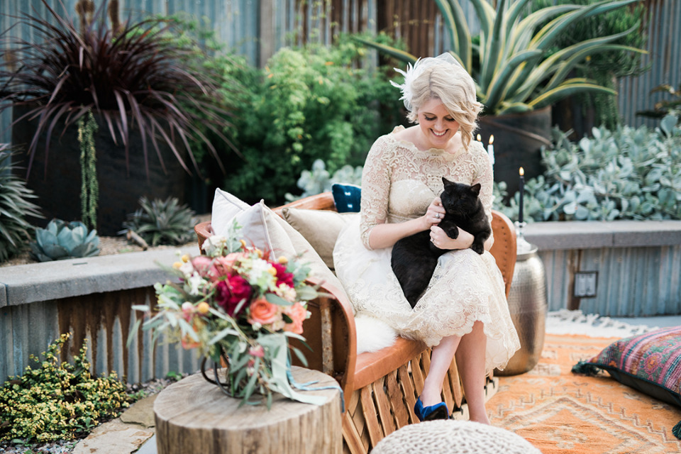 every wedding is better with a cat