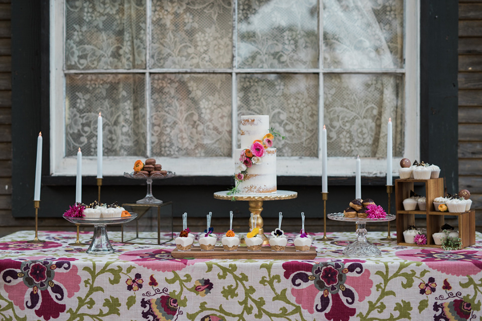scrumptious wedding dessert table