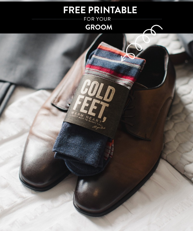Free sock printable for your Groom