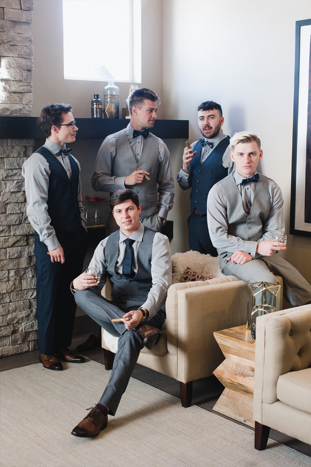 Groomsmen in their Generation Tux outfits