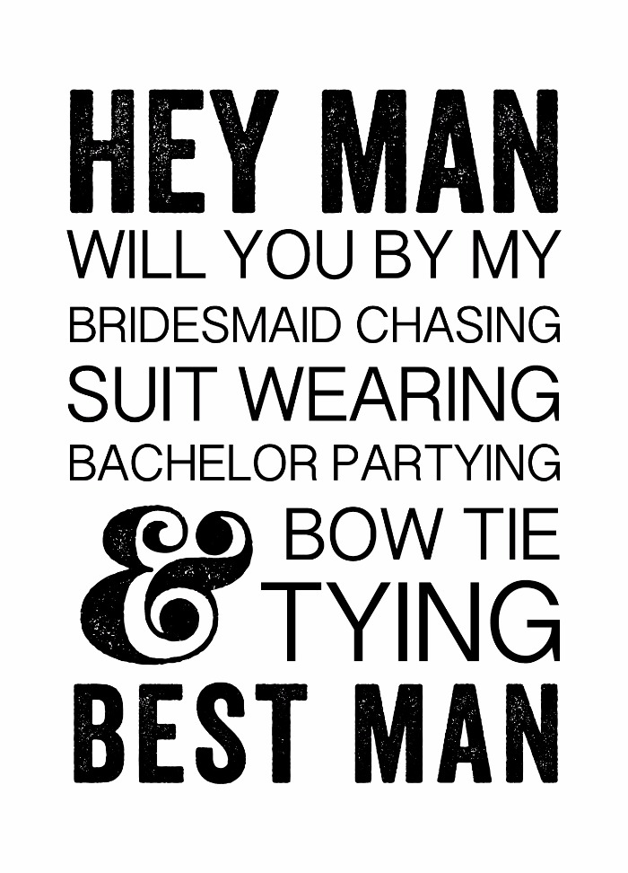 Print: Fun will you be my groomsmen Free Printable