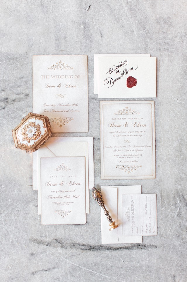 Vintage invitation suite