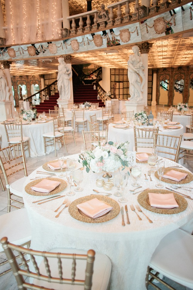 Blush and gold reception