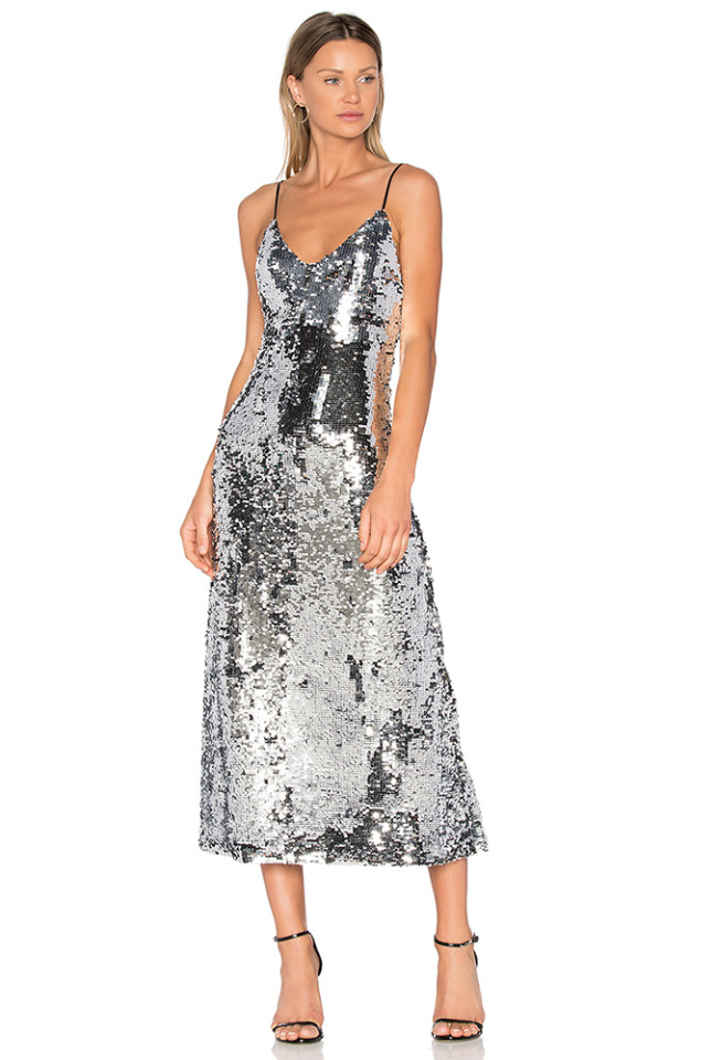 GLAM silver sequined dress